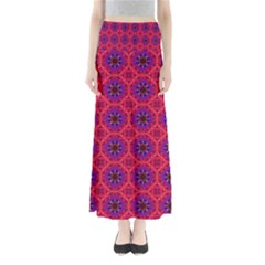 Retro Abstract Boho Unique Full Length Maxi Skirt