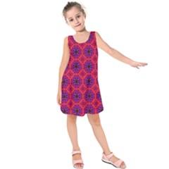 Retro Abstract Boho Unique Kids  Sleeveless Dress