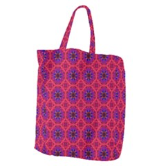 Retro Abstract Boho Unique Giant Grocery Zipper Tote