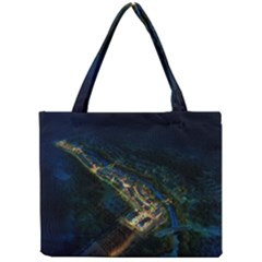 Commercial Street Night View Mini Tote Bag