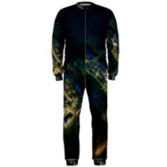 Commercial Street Night View Onepiece Jumpsuit (men)