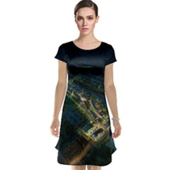Commercial Street Night View Cap Sleeve Nightdress