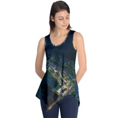 Commercial Street Night View Sleeveless Tunic