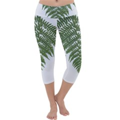 Boating Nature Green Autumn Capri Yoga Leggings