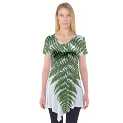 Boating Nature Green Autumn Short Sleeve Tunic