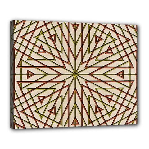 Kaleidoscope Online Triangle Canvas 20  X 16