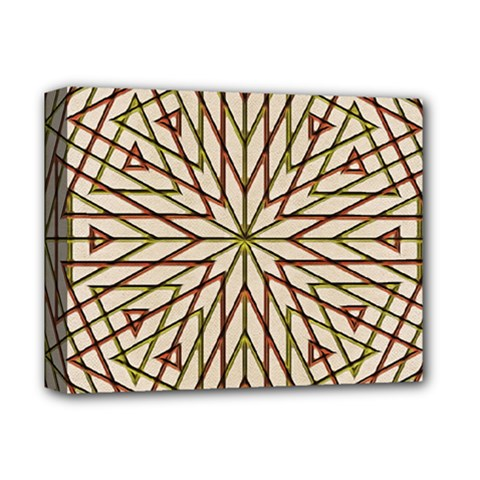 Kaleidoscope Online Triangle Deluxe Canvas 14  X 11  by BangZart