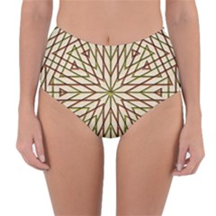 Kaleidoscope Online Triangle Reversible High Waist Bikini Bottoms