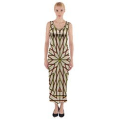 Kaleidoscope Online Triangle Fitted Maxi Dress