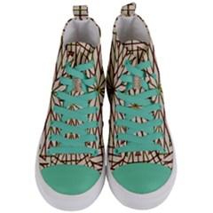 Kaleidoscope Online Triangle Women s Mid Top Canvas Sneakers