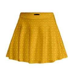 Texture Background Pattern Mini Flare Skirt