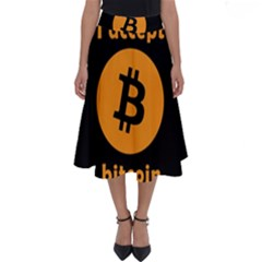 I Accept Bitcoin Perfect Length Midi Skirt by Valentinaart