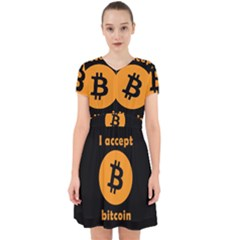 I Accept Bitcoin Adorable In Chiffon Dress by Valentinaart
