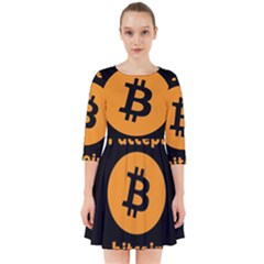 I Accept Bitcoin Smock Dress by Valentinaart