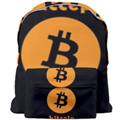 I Accept Bitcoin Giant Full Print Backpack by Valentinaart
