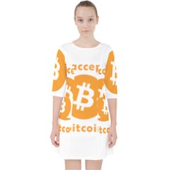 I Accept Bitcoin Pocket Dress by Valentinaart