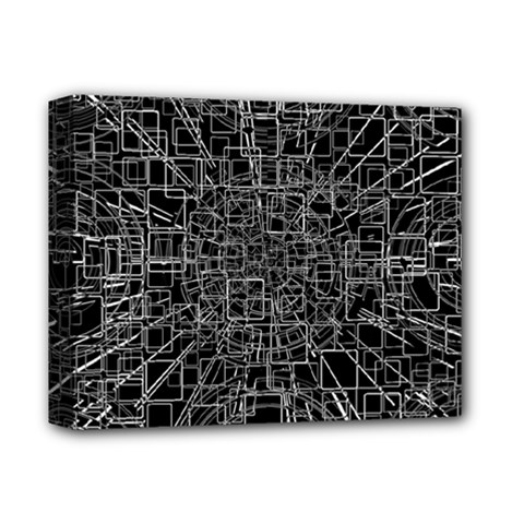 Black Abstract Structure Pattern Deluxe Canvas 14  X 11  by BangZart