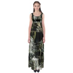Water Waterfall Nature Splash Flow Empire Waist Maxi Dress