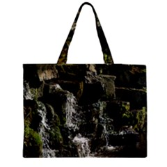 Water Waterfall Nature Splash Flow Medium Tote Bag by BangZart