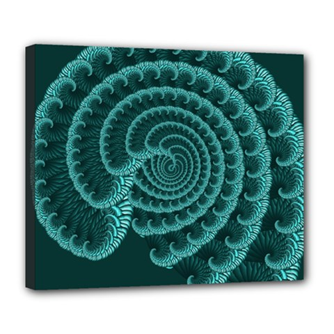 Fractals Form Pattern Abstract Deluxe Canvas 24  X 20