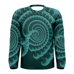 Fractals Form Pattern Abstract Men s Long Sleeve Tee