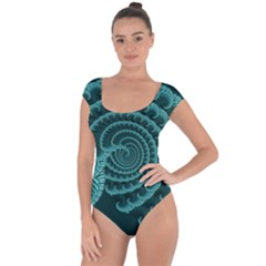 Fractals Form Pattern Abstract Short Sleeve Leotard