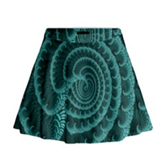 Fractals Form Pattern Abstract Mini Flare Skirt