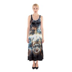 Universe Vampire Star Outer Space Sleeveless Maxi Dress