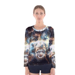Universe Vampire Star Outer Space Women s Long Sleeve Tee