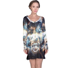 Universe Vampire Star Outer Space Long Sleeve Nightdress