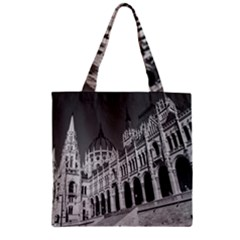 Architecture Parliament Landmark Zipper Grocery Tote Bag by BangZart