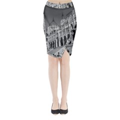 Architecture Parliament Landmark Midi Wrap Pencil Skirt