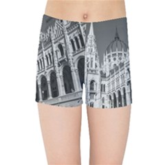 Architecture Parliament Landmark Kids Sports Shorts by BangZart