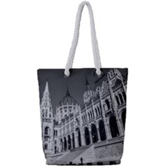 Architecture Parliament Landmark Full Print Rope Handle Tote (small) by BangZart
