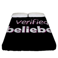 Verified Belieber Fitted Sheet (queen Size) by Valentinaart