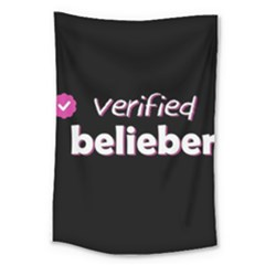 Verified Belieber Large Tapestry by Valentinaart