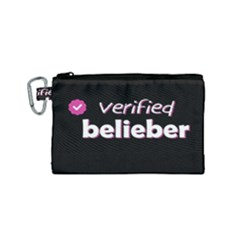 Verified Belieber Canvas Cosmetic Bag (small) by Valentinaart