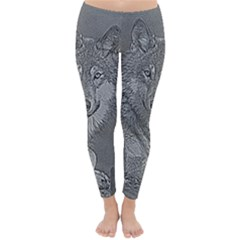 Wolf Forest Animals Classic Winter Leggings