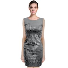 Wolf Forest Animals Classic Sleeveless Midi Dress