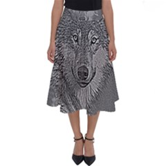 Wolf Forest Animals Perfect Length Midi Skirt