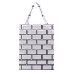 Wall Pattern Rectangle Brick Classic Tote Bag