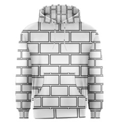 Wall Pattern Rectangle Brick Men s Pullover Hoodie