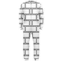 Wall Pattern Rectangle Brick Onepiece Jumpsuit (men)