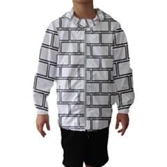 Wall Pattern Rectangle Brick Hooded Wind Breaker (kids)