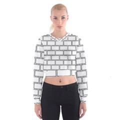 Wall Pattern Rectangle Brick Cropped Sweatshirt