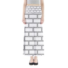 Wall Pattern Rectangle Brick Full Length Maxi Skirt