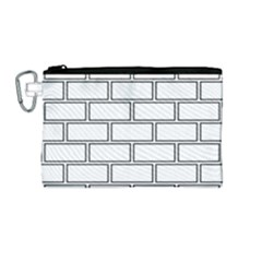 Wall Pattern Rectangle Brick Canvas Cosmetic Bag (medium)