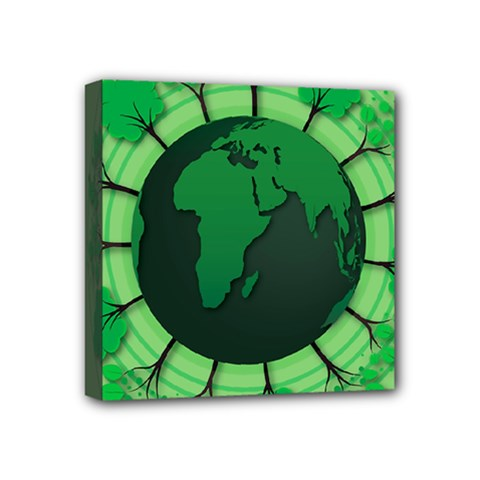 Earth Forest Forestry Lush Green Mini Canvas 4  X 4