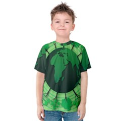 Earth Forest Forestry Lush Green Kids  Cotton Tee