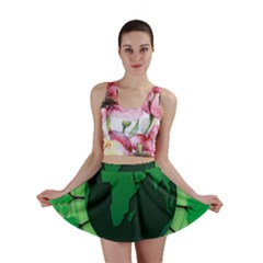 Earth Forest Forestry Lush Green Mini Skirt